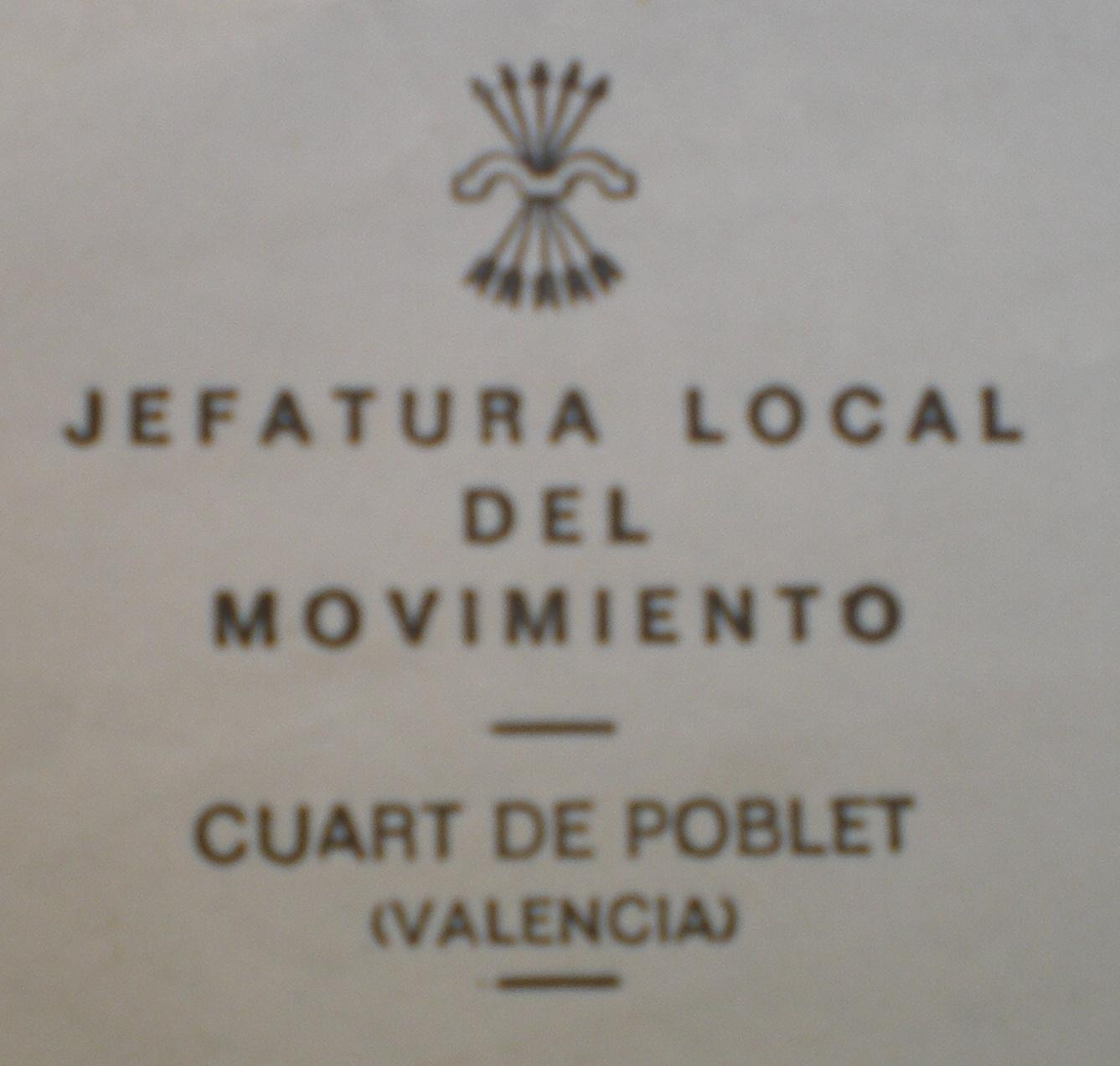 Jefatuka local movimiento 1972